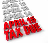 Steuern sie 15. april fällig — Stockfoto