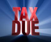 Grande imposto devido — Fotografia Stock