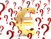 Euro In Question — Stockfoto