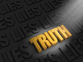 Finding Truth Among Lies — Stock Photo