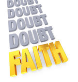 Faith Overcomes Doubt — Stock Photo
