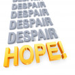 Focus On Hope Over Despair — Foto de Stock