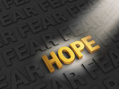 Hope Outshines Fear — Stock Photo