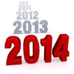 Progression of Years - 2014 — Stock Photo #25589371