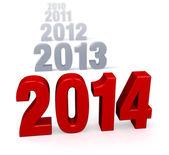 Fortschreiten der jahre - 2014 — Stockfoto