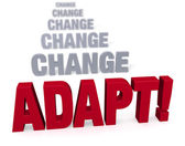 Focus On Adapating In The Face Of Change — Stock Photo