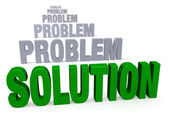 Focus On Solution, Not Problems — Stock Photo