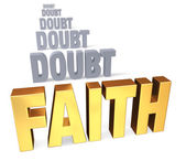 Focus On Faith Over Doubt — Stock Photo