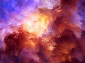 Vortext fantasy sturm malerei — Stockfoto