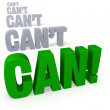 Focus on Can! — Foto Stock