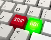 GO! Technology Keyboard — Stock Photo