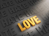 Love Outshines Hate — Stock Photo