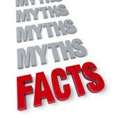 Koniec fakty mity — Zdjęcie stockowe