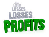 Profits After Losses — Stock Photo