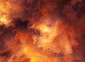 Ognista burza — Zdjęcie stockowe