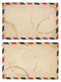 Vintage, Coffee-Stained Airmail Envelope — Stock Photo