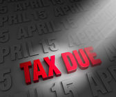Spotlight on Tax Due Date — Stock Photo