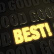 Постер, плакат: Best Over Good