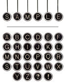 Vintage Typewriter Keys Word Kit — 图库照片