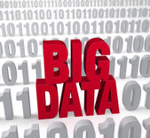 Big Data In The Numbers — Stock Photo