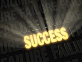 Brilliant Success Erases Failure — Stock Photo