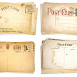 Stock Photo: Four Stacks of Blank, Vintage Postcards