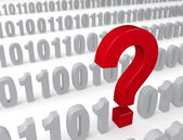 Big Question in the Data Stream — Stock Photo
