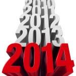 2014 is Now — Stock Photo