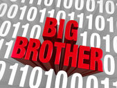 Big Brother Emerges From Computer Code — Stock Photo