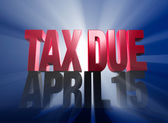 April 15, Tax Due — Stock Photo