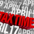 April 15th, Tax Time — Stock Photo