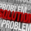 Surrounded By Problems, A Solution Emerges — Stock Photo