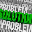 图库照片: Surrounded By Problems, Solution Emerges