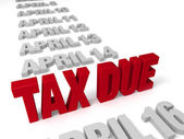 Tax Time Nears — Stockfoto