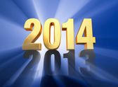 2014 Replaces 2013 — Stock Photo