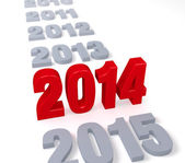 2014's Time Arrives — Stock Photo