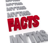 Facts Stand Up To Myths — Stock Photo