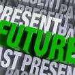 The Future Emerges From The Past And Present — Stock Photo