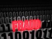 Glaring Computer Fraud — Stock Photo