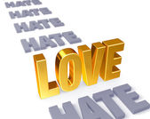 Love Stands Up to Hate — Stock Photo