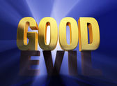 Good Over Evil — Stock Photo