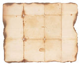 Very Old Paper With Burned Edges — Stock Photo