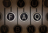 Old Style FAQ — Stock Photo