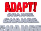 Adapt To Change — Stock Photo