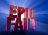 Dramatic, Epic Fail — Stock Photo