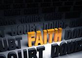 Faith Against Doubt — Stock Photo