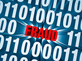 Cyber Fraud Hidden in Computer Code — Stock Photo
