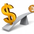 The Dollar Weighs In Against The Euro — Stock Photo #51776085