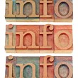 Info word in wood type — Stock Photo #12134017