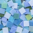 Blue and green mosaic tiles - Foto de Stock
